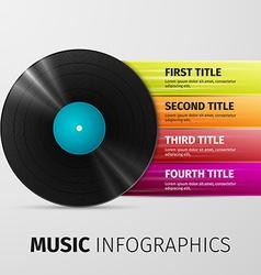 Music infographics vector