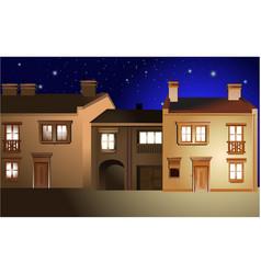 Night town street vector