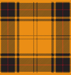 Orange black red tartan plaid scottish pattern vector
