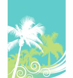 palm wave vector image
