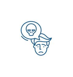 Panic line icon concept panic flat symbol vector