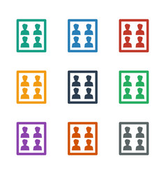 Photo for passport icon white background vector