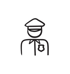 policeman sketch icon vector image