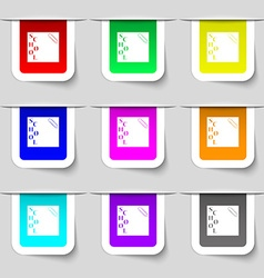 Reminder sticker note icon sign Set of vector
