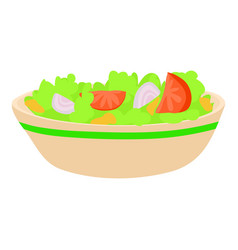 Salad icon cartoon style vector