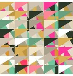 Seamless pattern of geometric shapes Geometric vector image