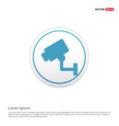 security or surveillance camera icon - white vector image