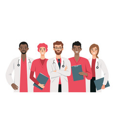 set doctors and nurses vector image