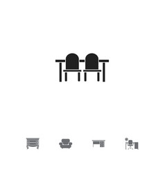 set of 5 editable interior icons includes symbols vector image
