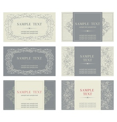 Victorian Business Card Frame Vector Images Over 300