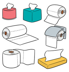 Set of tissue papers vector