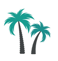 simple palm tree silhouette vector image