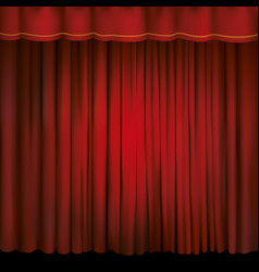 spotlight on a red stage curtain vector image