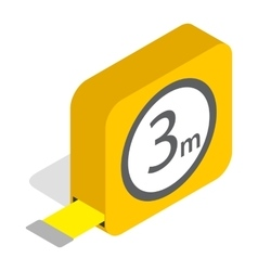 Tape measure roulette icon isometric 3d style vector image