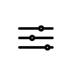 thin line slider bar eq icon on white background vector image