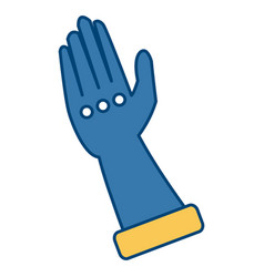 toilet glove isolated vector image