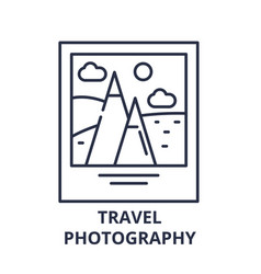 travel photography line icon concept travel vector image