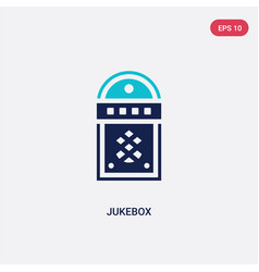 two color jukebox icon from birthday party vector image