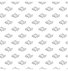 unique digital fishes seamless pattern vector image