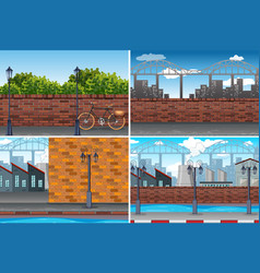 urban city day time background vector image
