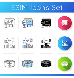 urban structure icons set vector image