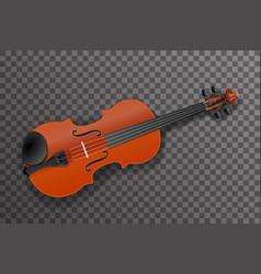 violin classical music instrument design vector image