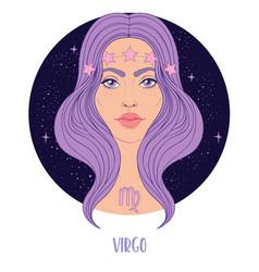 Virgo astrological sign vector