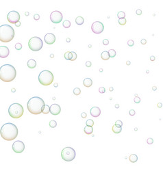wallpaper with soap bubbles vector image