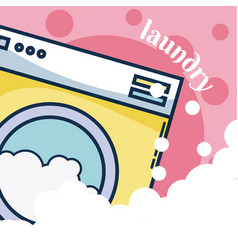 Washer machine laundry concept vector