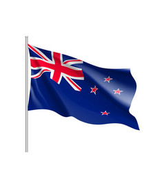 Waving flag of new zealand vector