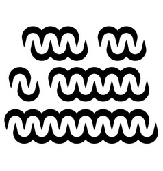 Wavy billowy chain rope like design elements vector