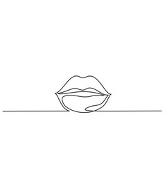 woman lips logo on white background vector image