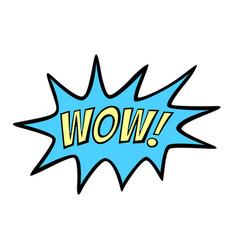 Word text wooow image vector