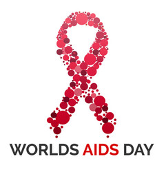 worlds aids day concept background cartoon style vector image