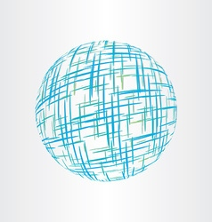 abstract globe earth technology icon vector image vector image