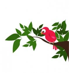 bird in nature vector image vector image