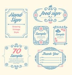 Label Vintage Design Labels vector image