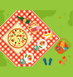 summer picnic in park banner vector image vector image