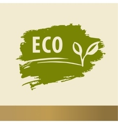 Eco logo design handdrawn template elements The vector image