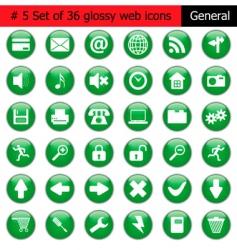icon set vector image