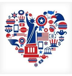America love vector image vector image