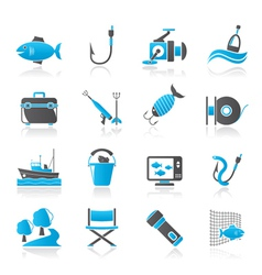 Fishing industry icons vector image vector image