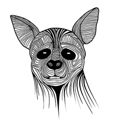 Hyena animal sketch tattoo symbol vector image vector image