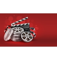 Online cinema with movie tape vector image vector image
