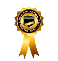 best choice label with gold ribbon vector image vector image