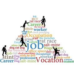 Business people climb job rat race work vector image vector image