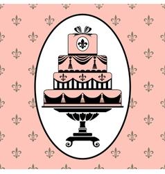 cake invitation vector image vector image