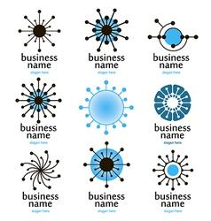 Digital technology logo vector