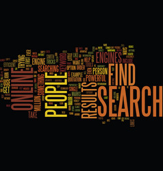 Find people online text background word cloud vector