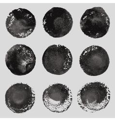 hand drawn paint stains grunge set vector image